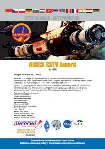 Interkosmos ARISS SSTV Award